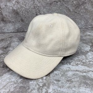 Madewell Wool Blend Baseball Cap Ivory White Hat